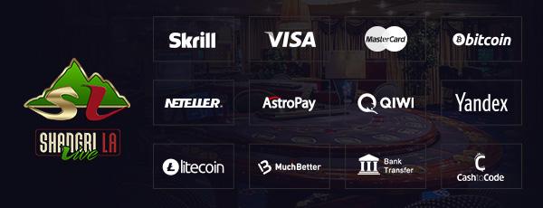Shangri La Live Casino Zahlungen