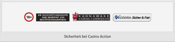 Casino Action Sicherheit