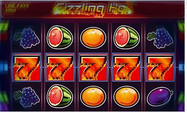 best online casino sizziling hot