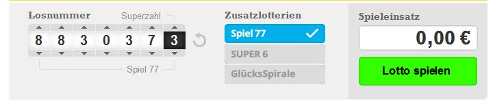 Gewinnchance Spiel 77