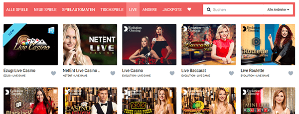 Stakes Casino Livespiele