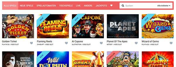 Stakes Casino Spiele Angebot