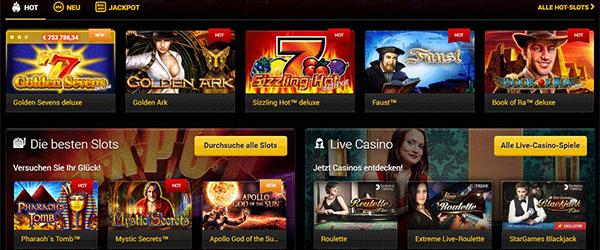 Stargames Spiele Angebot