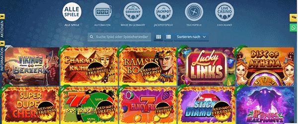 Sunmaker Casino Spiele Angebot