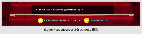 Dunder Casino Support