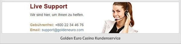 Golden Euro Casino Support