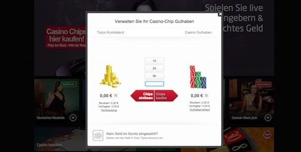 tipico guthaben in casino chips