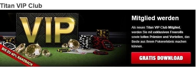 Titan Poker Stammkundenprogramm mit VIP-Punkten