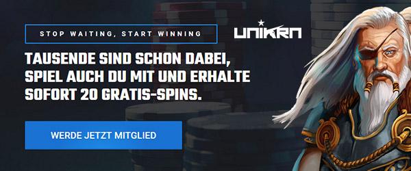 Unikrn Casino Freispiele