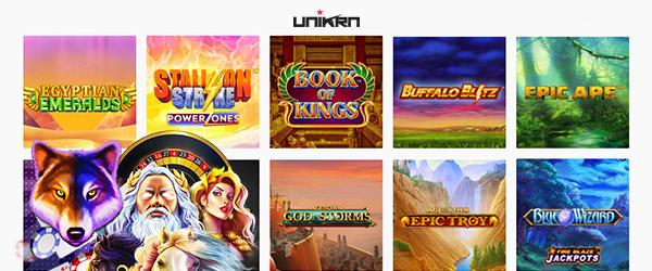 Unikrn Casino Spiele