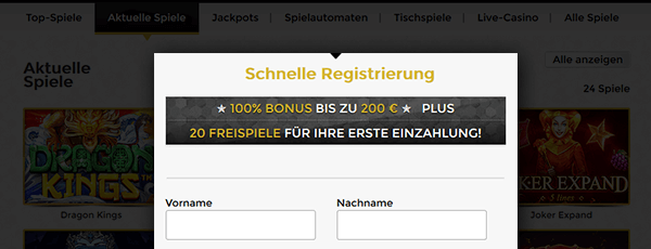 Unique Casino Registrierung