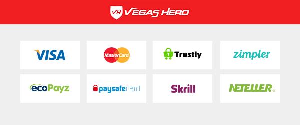 Vegas Hero Zahlungsmethoden