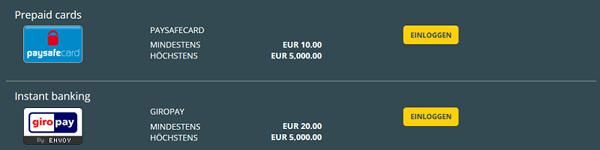 Viks.com Einzahlungen