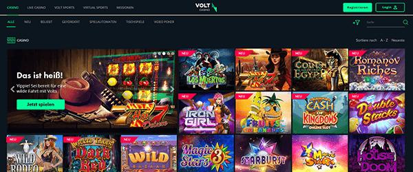 Volt Casino Spiele