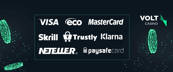 Volt Casino Zahlungsmethoden