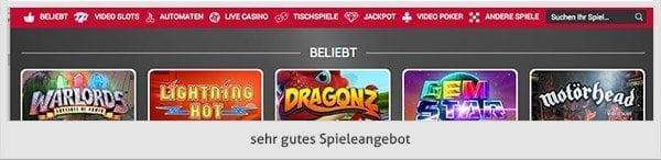 Adler Casino Spiele Angebot
