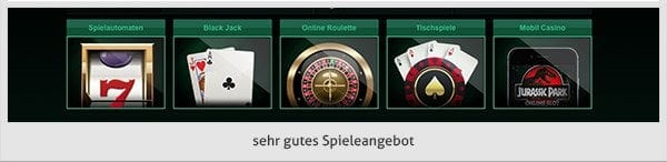 Casino Mate Spielangebot