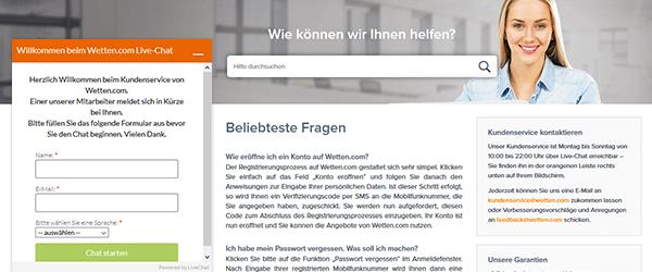 Wetten.com Support