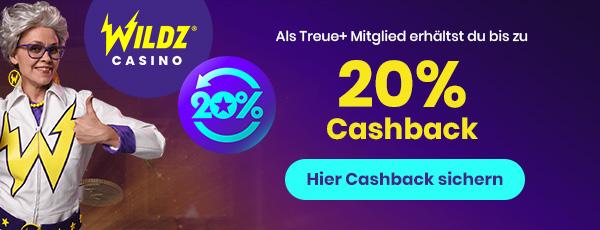 wildz casino cashback