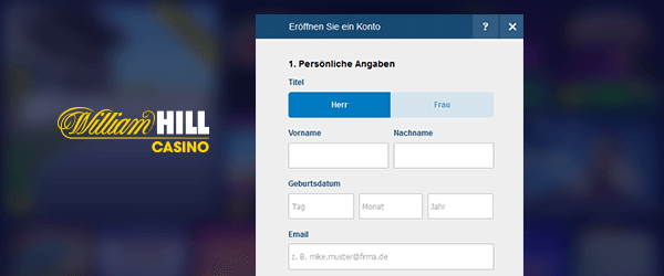 William Hill Casino Registrierung