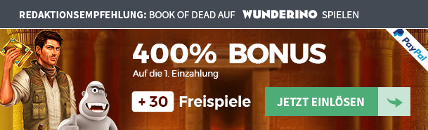Book of Dead Wunderino Casino