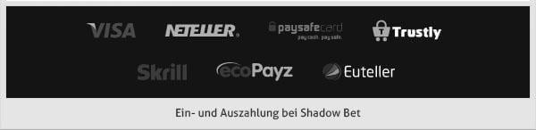 Shadow Bet Zahlungsmöglichkeiten