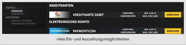 LVBet Casino Zahlungsmethoden